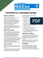 Cavitation in Centrifugal Pumps