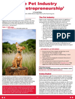 The pet industry in Australia ( 2014)