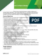 EDU_DATASHEET_vSphere Install Configure Manage V6.7