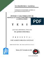 SÍNTESIS Y CARACTERIZACIÓN  DE  MONO-β-LACTAMAS COMO PRECURSORES DE   β-AMINOACIDOS.pdf