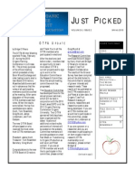 Spring 2009 Just Piced Newsletter, Midwest Organic and Sustainable Education Service