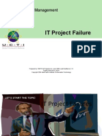 CT - Topic 13- IT Project Failure Lecture