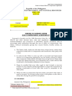 ADR Form No. 014 Order to Submit  Offer of Compromise Agreement or Amicable Settlement.docx