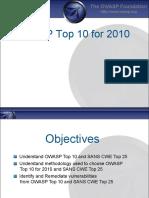 OWASP Top 10 - 2010 Training