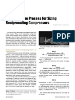 Improving the Process for Sizing Reciprocating Compressors
