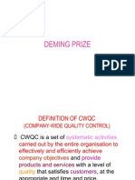 Deming Criteria