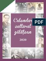 Calendar Cultural Gălățean 2020
