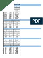 Festival & Important Dates List 2020