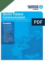 Cognitive Jan 2013 - Doctor_Patient_Communications