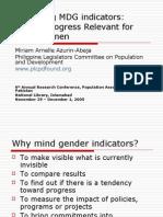 Gendering the Millennium Development Goals