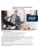 How to Run a Productive Meeting