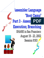 assembler boot camp 3 - assembling and execution, branching