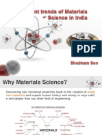 Current trends of materials science in India