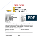 Term Paper ECO111