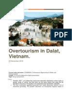 Overtourism Issue Analysis.