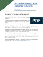 Biografia Renda Livre Online