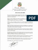 Mensaje del presidente Danilo Medina con motivo del Año Nuevo 2020