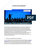 What Are Things to Learn at the Educational Conference.docx