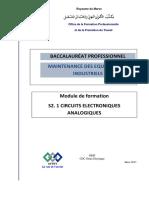 BAC PRO MI S2.1 Circuits électroniques analogiques