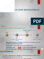 Project cost management.