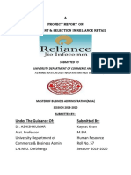 RECRUITMENT POLICY IN RELIANCE RETAIL
