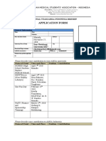 National Team Application Form