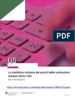 La statistica svizzera dei prezzi delle costruzioni