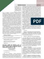 Decreto supremo N° 404-2019-EF