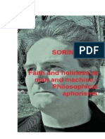 Faith and Holiness at Man and Machine - Philosophical aphorisms by Sorin Cerin