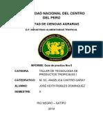 OBTENCION DE AGUARDIENTE DE CAÑA DE AZUCAR