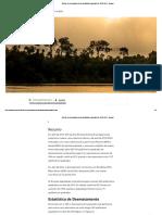 Relatório do avanço do desmatamento da Amazônia Legal - 2016