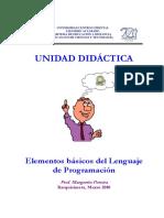UNIDAD DIDÁCTICA. Elementos básicos del Lenguaje de Programación_10
