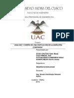 Análisis Estructural de Edificio de Albañileria segun la E-070
