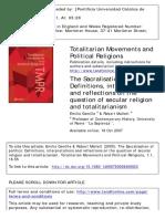 RELIGIONES POLITICAS gentile