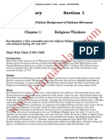 History and Cultural of Pakistan  Section 1