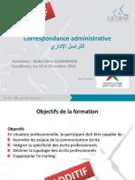 correspondance administrative