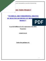 MBA Project On Fundamental Analysis (1).doc