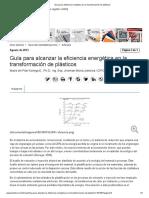 Guía para eficiencia energética en la transformación de plásticos