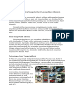 Perkembangan Sistem Transportasi Darat