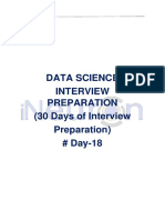 Data Science Interview Preparation(#DAY 18)