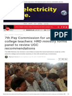 7th Pay Commission for University, College Teachers_ HRD Ministry Forms Panel to Review UGC Recommendations _ Zee News