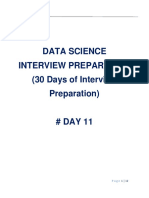 Data Science Interview Preparation(#DAY 11)
