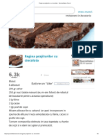 Regina prajiturilor cu ciocolata - Specialitatea Casei