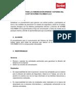 Anexo 37. Procedimiento comunicación interna.externa