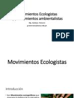 8 Movimientos  Ecologistas y pensamientos ambientalistas.pptx
