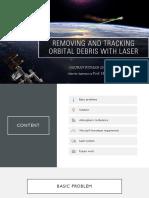 Removing orbital debris using laser