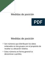 5 MEDIDAS DE POSICION O CUANTILES