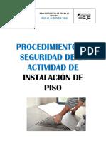 PROCEDIMIENTO TRANAJO INSTALACION DE PISO