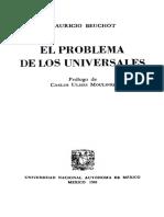 Beuchot Mauricio - El Problema De Los Universales.pdf