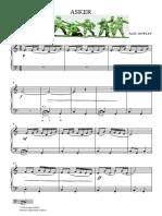 Asker (Alec Rowley Piyano) - Full Score